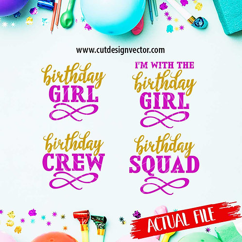 Birthday Girl SVG Bundle