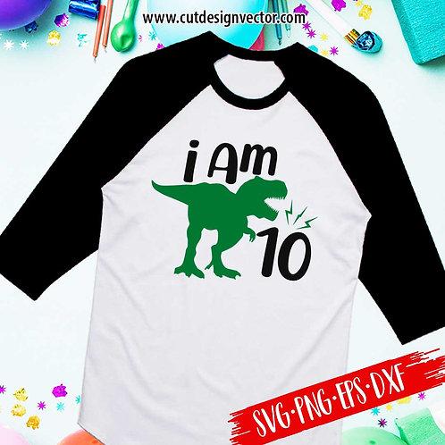 I Am Ten SVG