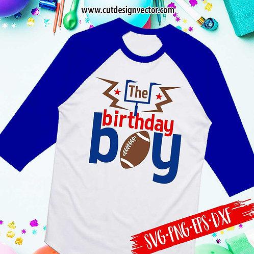 The Birthday Boy Football SVG