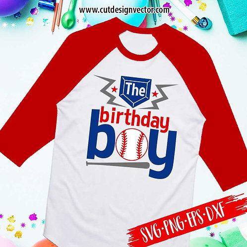 The Birthday Boy Baseball SVG