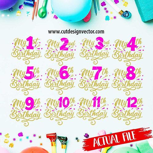 My Birthday SVG Bundle
