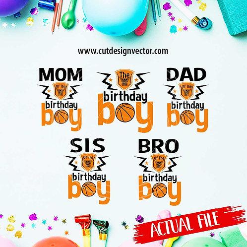 The Birthday Boy Basketball SVG Bundle