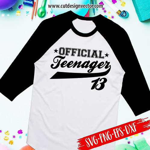 Official Teenager SVG