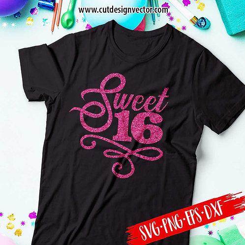 Sweet 16 SVG