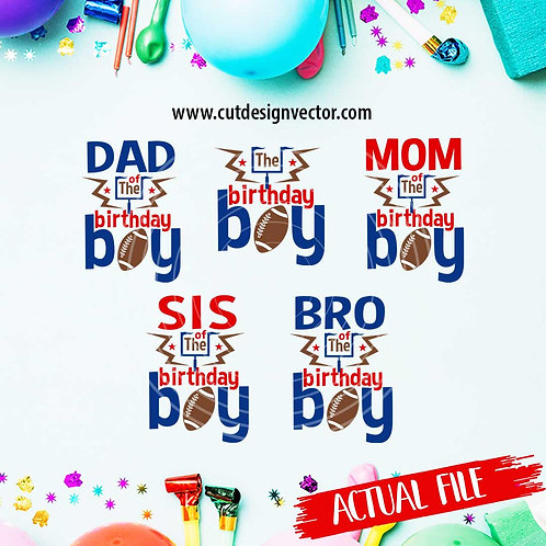 The Birthday Boy Football SVG Bundle