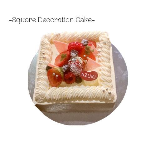 Square Decoration(Strawberry, Matcha, Chocolate)
