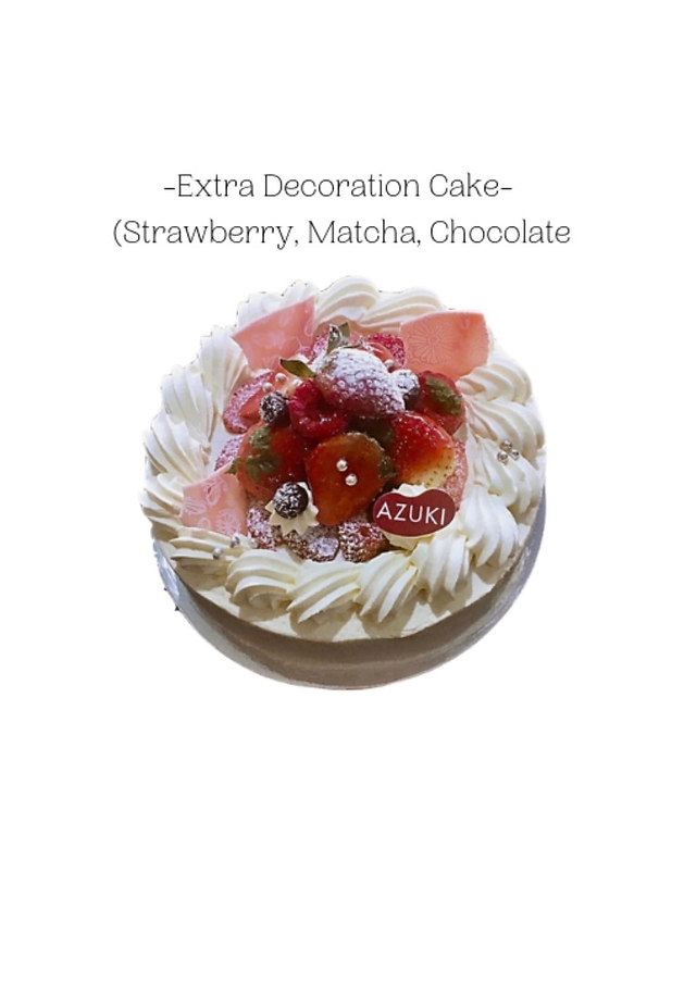 Extra Decoration(Strawberry, Matcha, Chocolate)