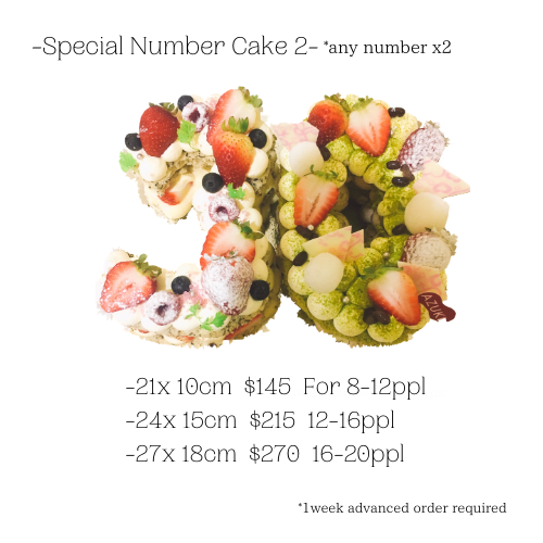Extra Number cake *Any numberx 2
