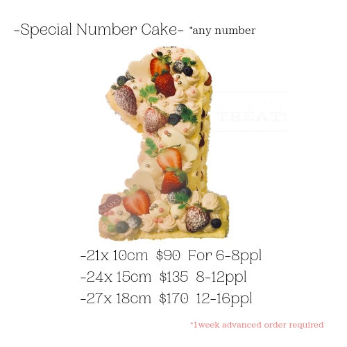 Extra Nnmber Decoration *any number (Strawberry, Matcha, Chocolate)