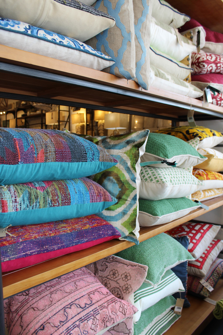Pillows in every style and shade.