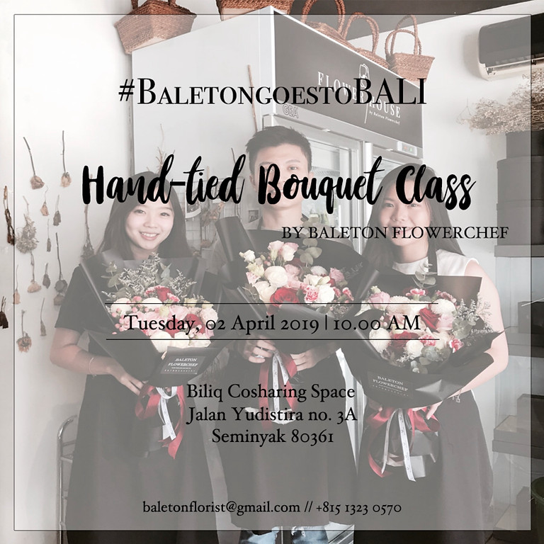 Hand-tied Bouquet Class