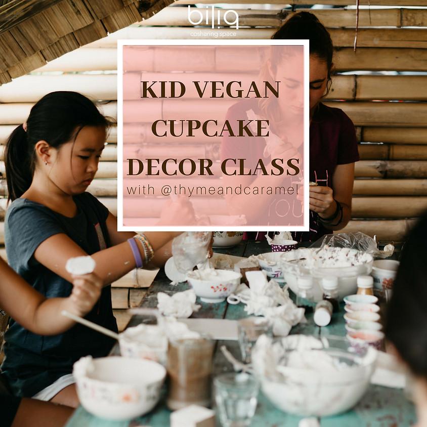 Kid Vegan Cupcake Decor Class