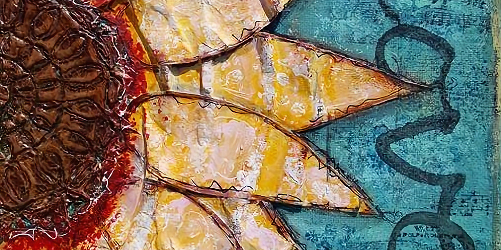 Sunflower Mixed Media Canvas