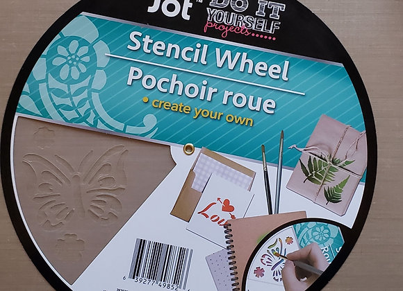 Feathers and Arrows Stencil Wheel