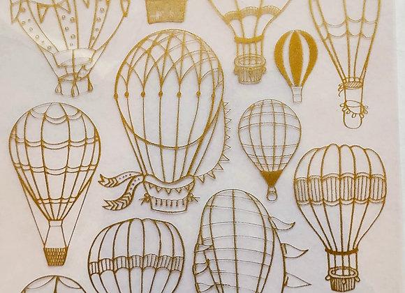 Hot Air Balloon Rub-ons