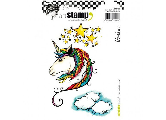 Carabelle Unicorn cling stamp