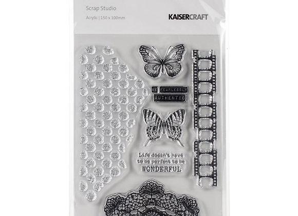 """Scrap Studio Clear Stamps 6""""X4"""""""