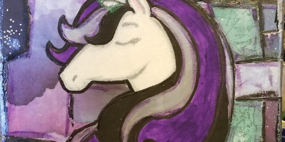 Unicorn Mixed Media Canvas