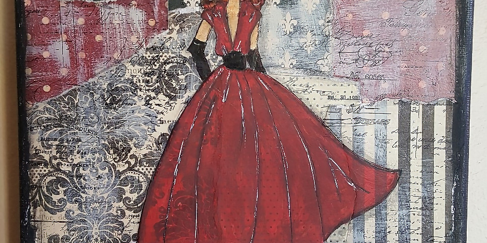 Vintage Girl Canvas