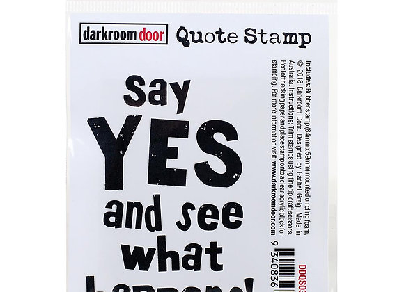 SAY YES -Cling Stamp