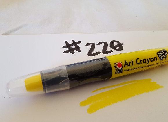 Marabu Creative Art Crayon Sunshine Yellow