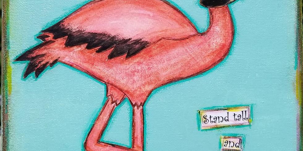 Fabulous Flamingo Canvas