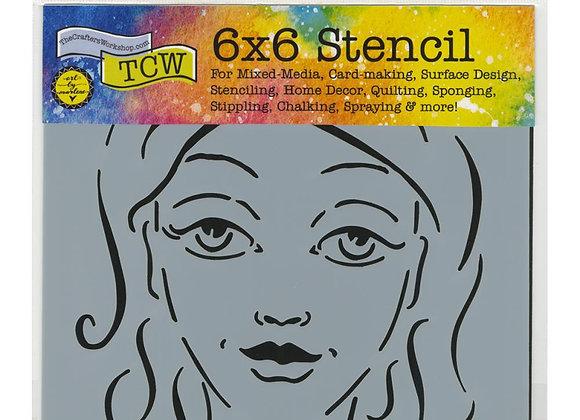 """TCW Charlize stencil 6x6"""""""