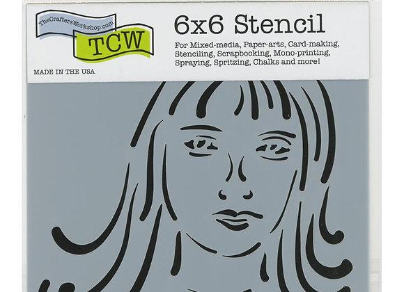 """TCW Natalie Stencil 6x6"""""""