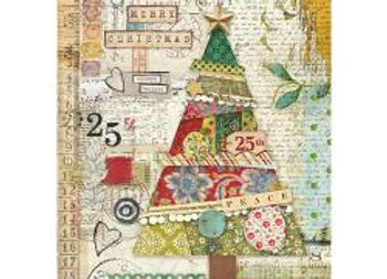 Patchwork Tree Rice Paper