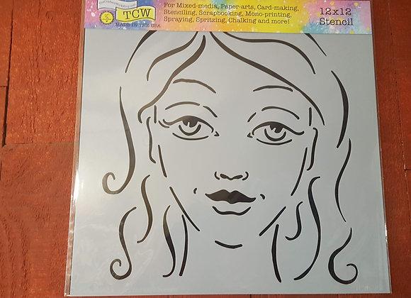 """TCW Charlize Stencil 12x12"""""""