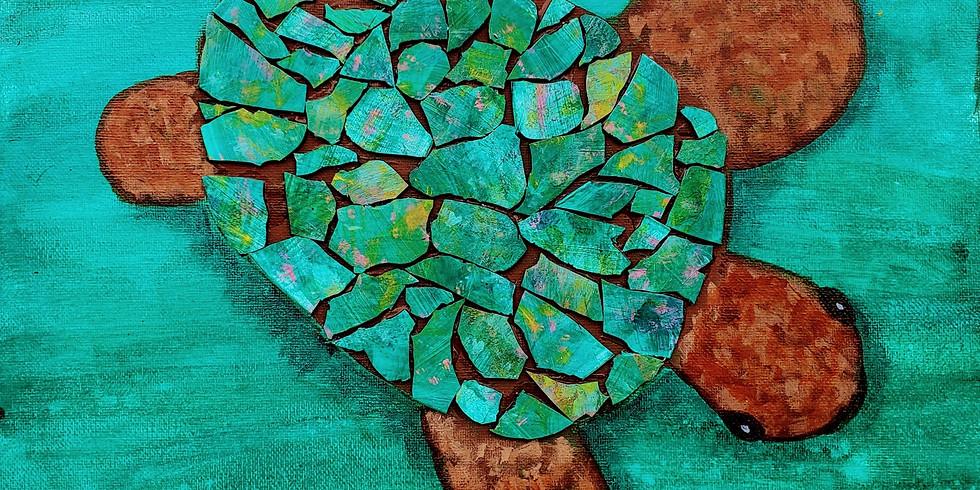 Mosaic Sea Turtle