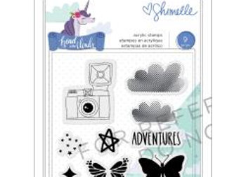 Shimelle Head In The Clouds Clear Acrylic Stamps Icons