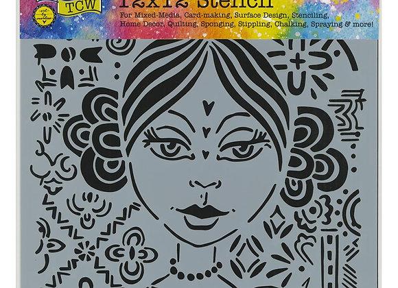 """TCW Amalia Stencil 12x12"""""""