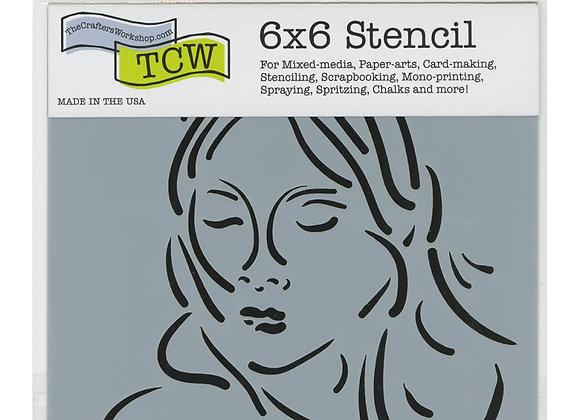 """TCW Mia stencil 6x6"""""""