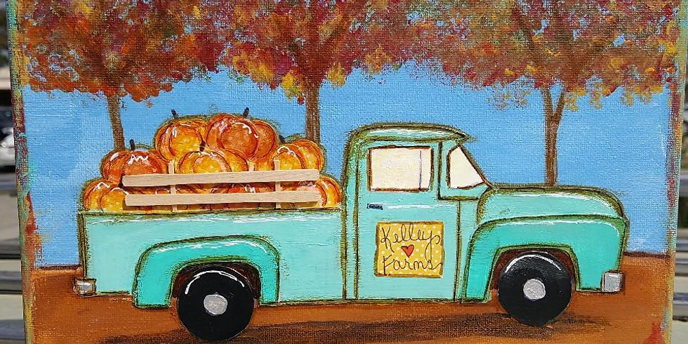 Pumpkin Truck Canvas