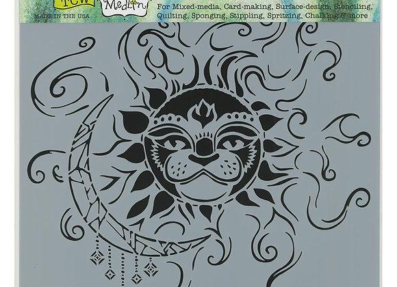 "TCW  Sun and Moon Stencil 12x12"""