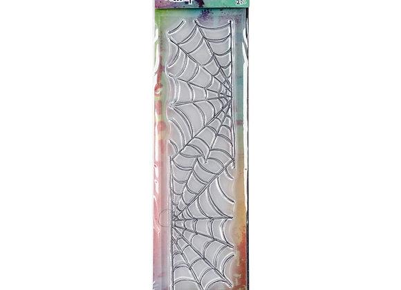 "Dylusions Clear Stamp & Stencil Set 9"" Cobweb"