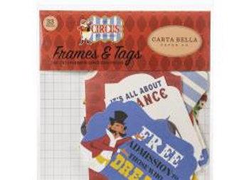 Carta Bella Cardstock Ephemera 33/Pkg Frames & Tags, Circus