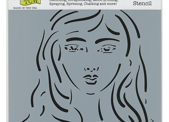 "TCW Emma Stencil 12x12"""