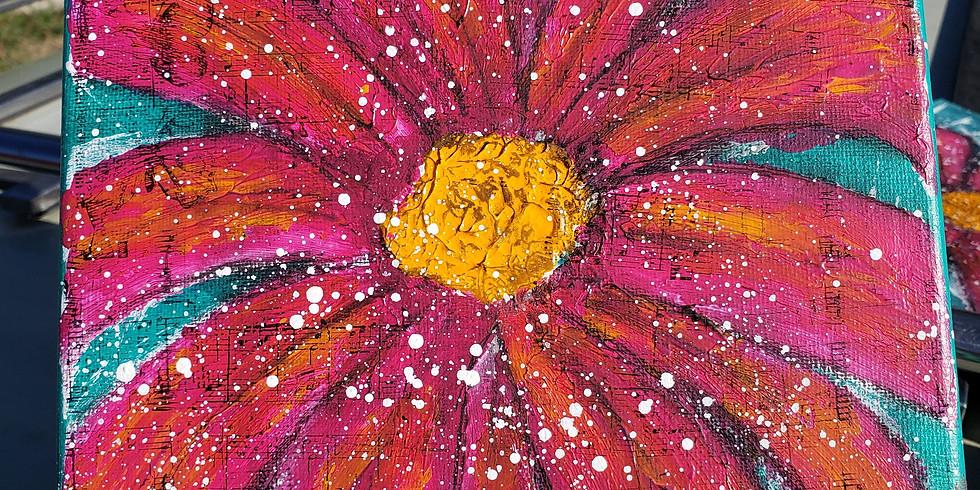 Finger-painted Flower