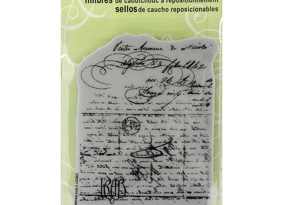 Vintage Letter cling rubber stamp