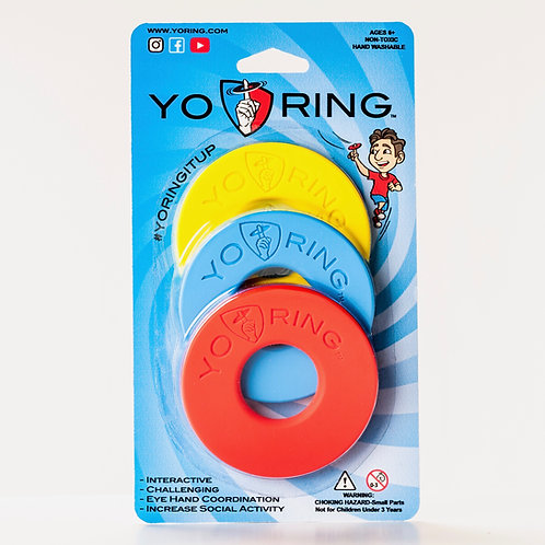 3 pack - Blue, Red & Yellow - Yo Rings