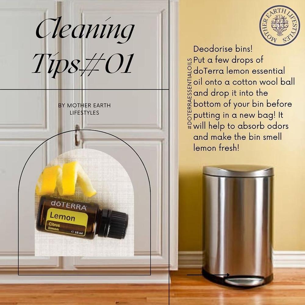 Lemon DoTerra Essential Oil With Kitchen Bin