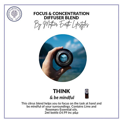 Focus & Concentration Diffuser Blend from Mother Earth Lifestyles