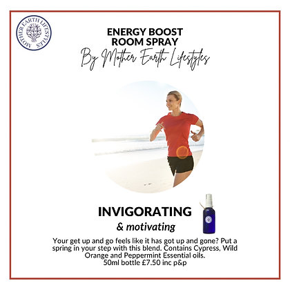 Energy Boost Room Spray by Mother Earth Lifestyles
