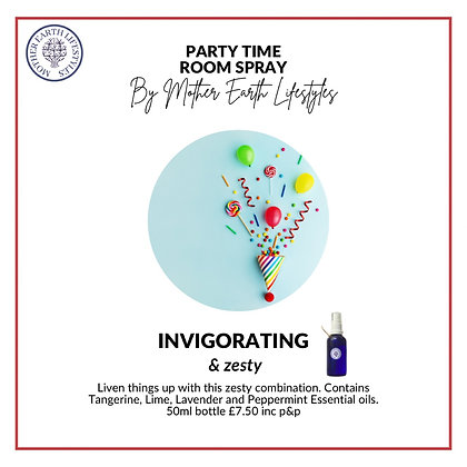 Party Time Room Spray by Mother Earth Lifestyles