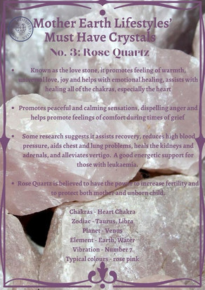 Mother Earth Must Have Crystals No 3 Rose Quartz