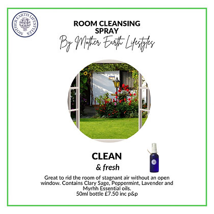 Room Cleansing Spray by Mother Earth Lifestyles
