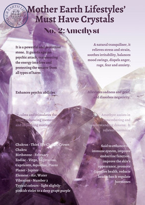 Mother Earth's Must Have Crystals: No. 2 Amethyst