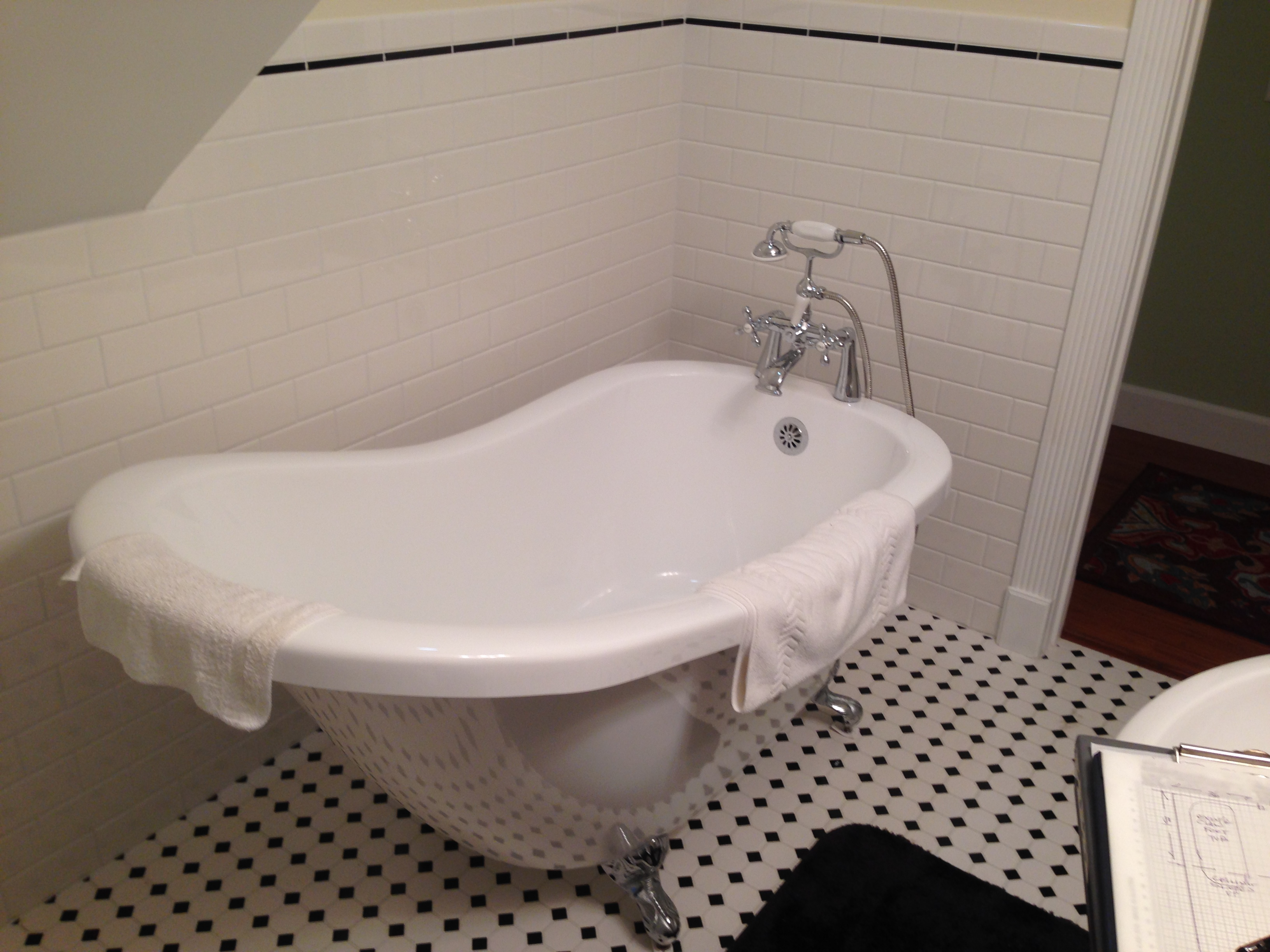 Tub to Shower BEFORE